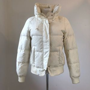 Juicy Couture white down puffer coat